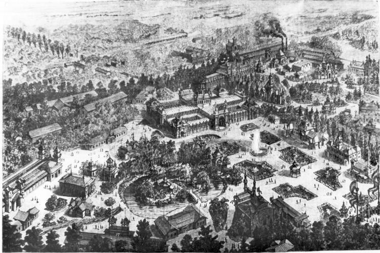 Ezredéves Kiállítás, egész területe és épületei, repró - Magyar Kereskedelmi és Vendéglátóipari Múzeum, C BY-NC-ND