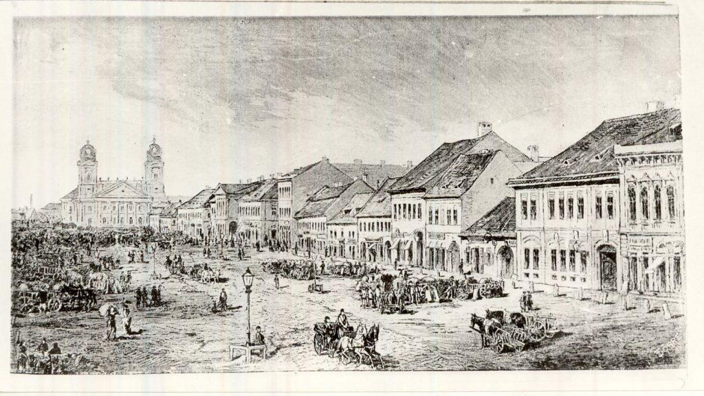 Piac Debrecenben XIX. század - Magyar Kereskedelmi és Vendéglátóipari Múzeum, CC BY-NC-ND