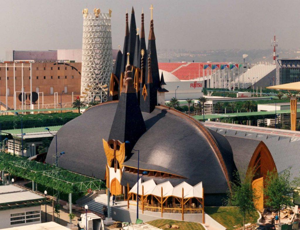 Magyar pavilon, Sevilla, 1992 (forrás: mult-kor.hu)