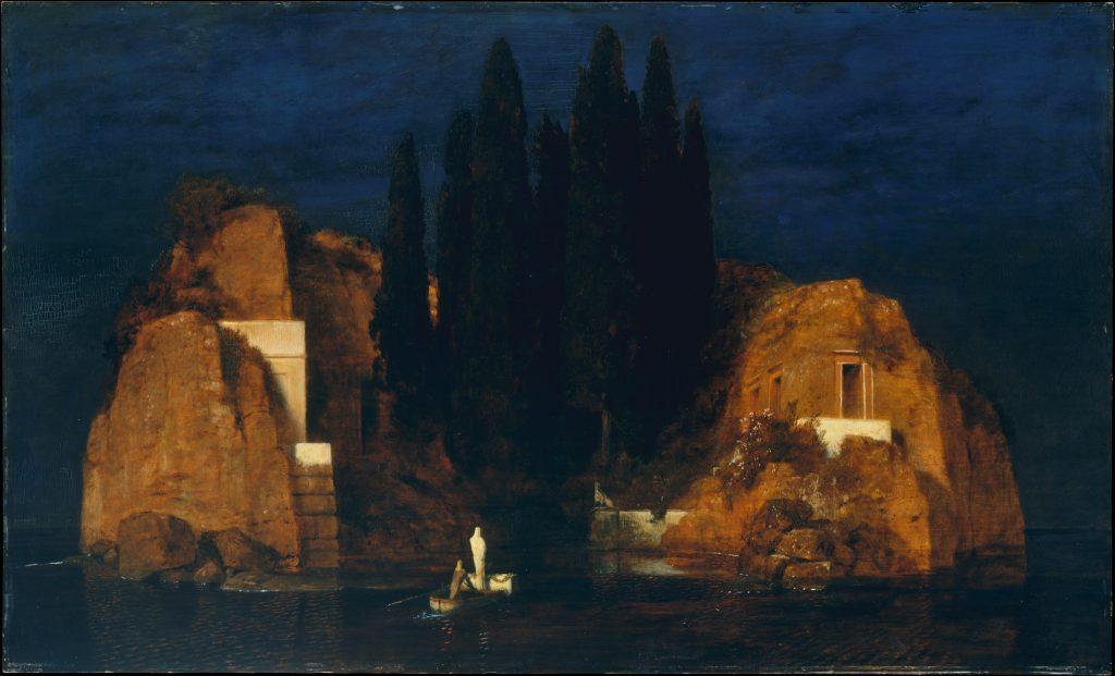 """Halottak szigete (olaj és vászon) 1880, """"New York"""" változat"""