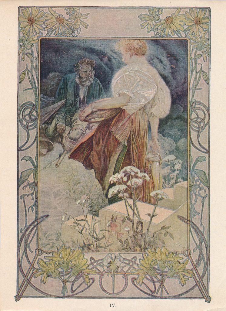 Alfons Mucha művének reprodukciója