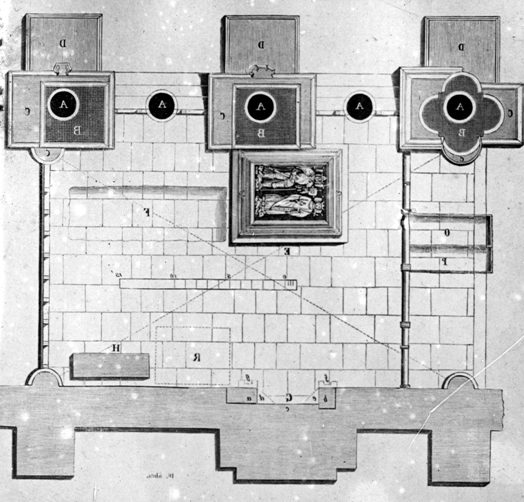Nagy Lajos sírkamrájának rajza (MaNDA adatbázis)