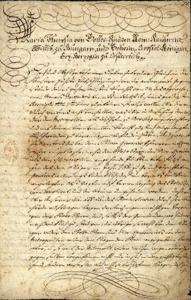 Mária Terézia levele Hadik Andráshoz (MaNDA adatbázis)