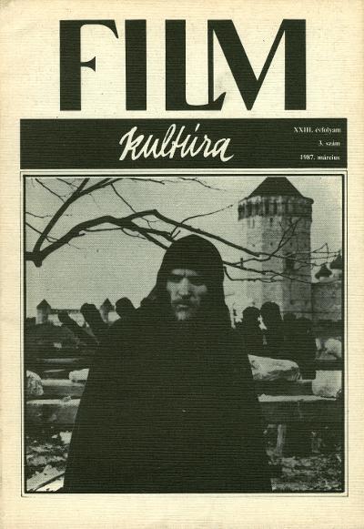 A Filmkultúra címlapjánn Anatolij Szolonyicin Tarkovszkij Andrej Rubljov című filmjében (MaNDA adatbázis)
