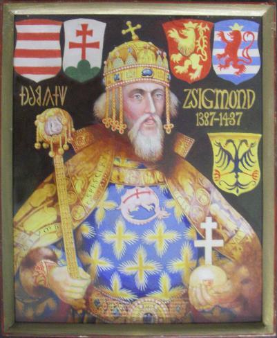 Zsigmond a Szent Koronával Somogyi Győző szerint (MaNDA)