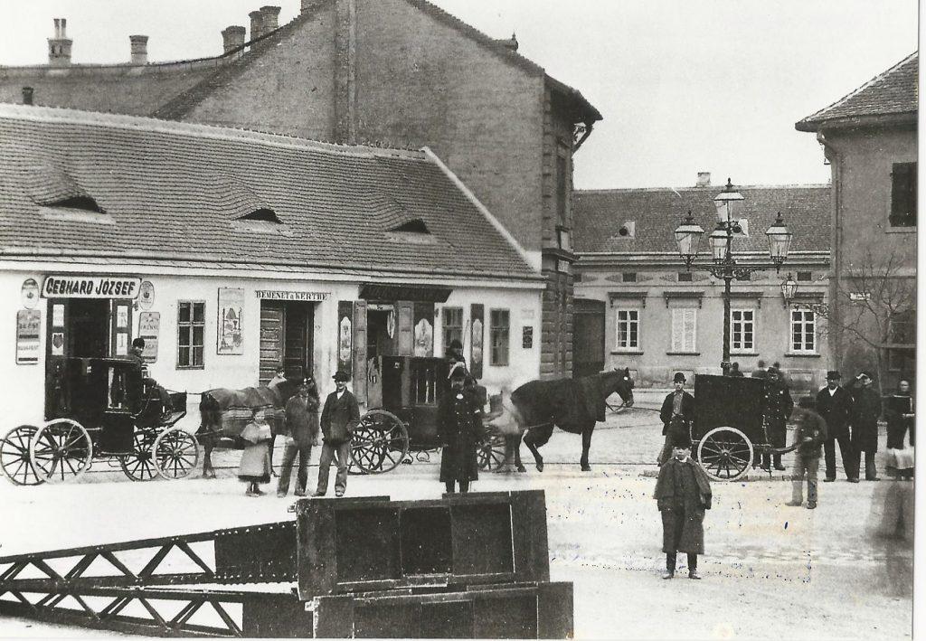 Az óbudai Fő tér az 1890-es években (MaNDA adatbázis)