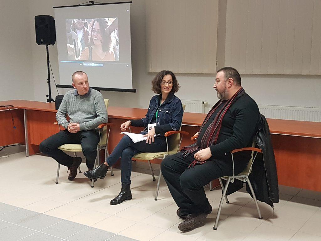 Boros Lóránd, Kovács Nóra és Lakatos Róbert beszélgetése a közönségtalálkozón
