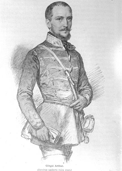 Rajz a tábornokról Barabás Miklós munkája nyomán (MaNDA)