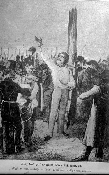 Zichy Jenő kivégzése - Szent István Király Múzeum, CC BY-NC-ND