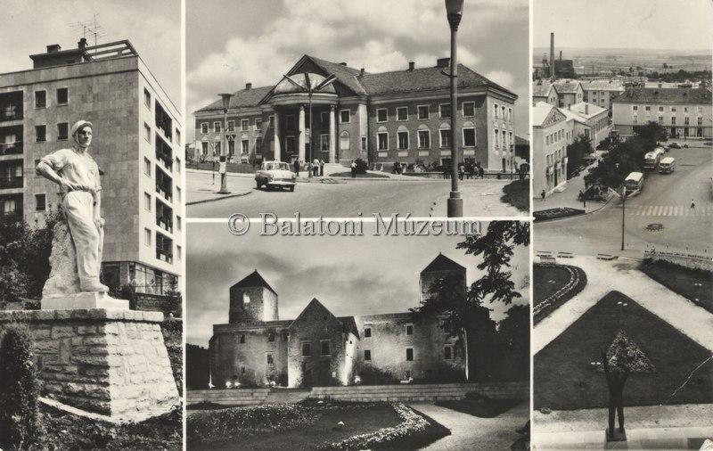 A város nevezetességei egy 1977-es képeslapon (MaNDA)