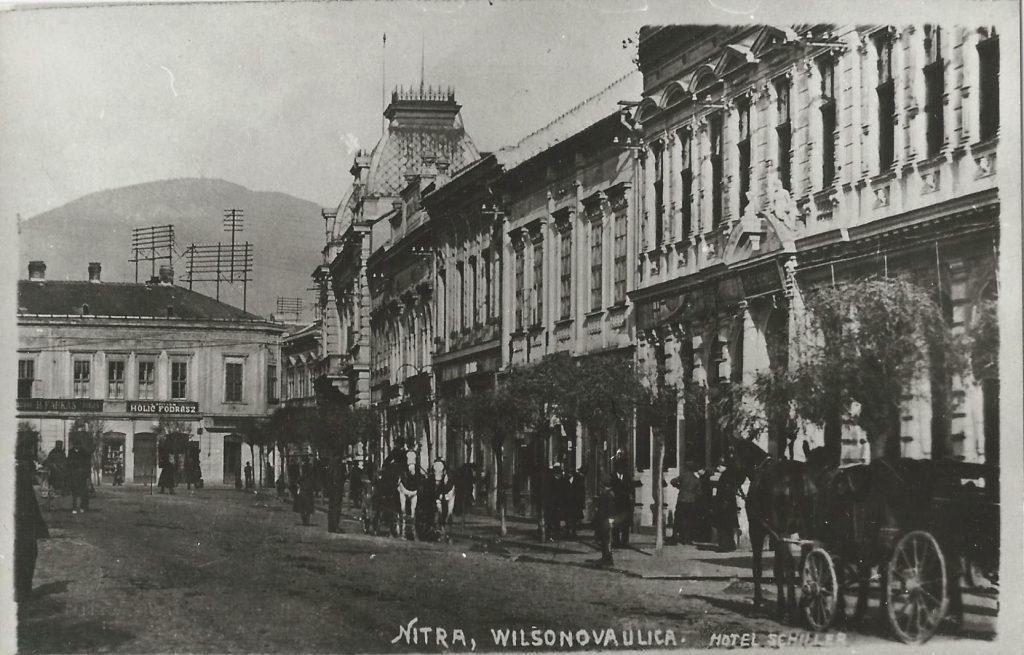 Hálából: Wilson utca Nyitrán 1924-ben (MaNDA)