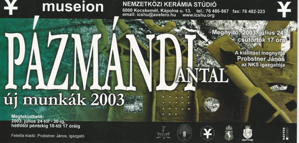 Pázmándi Antal egy korábbi kiállítása (MaNDA)