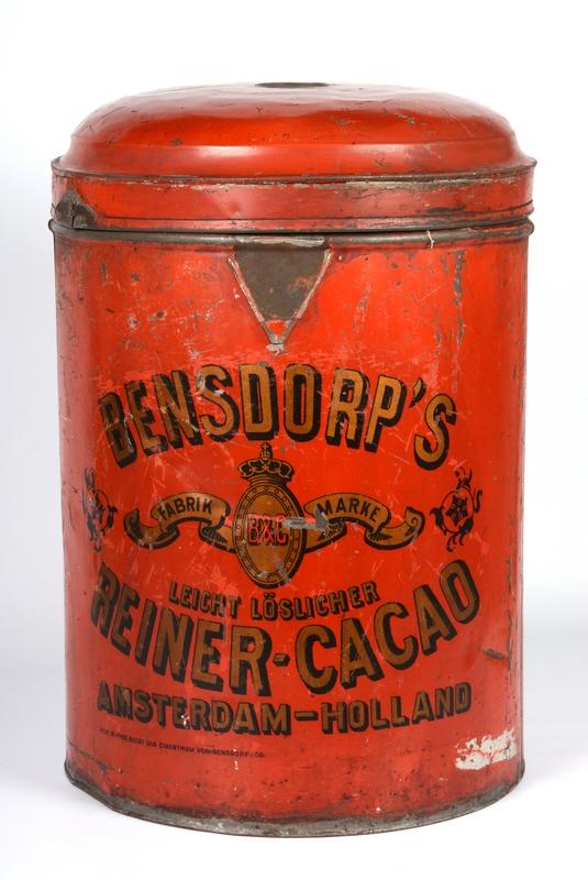 Bensdorp's Cacao, Amsterdam, kakaós doboz - Déri Múzeum, CC BY-NC-ND