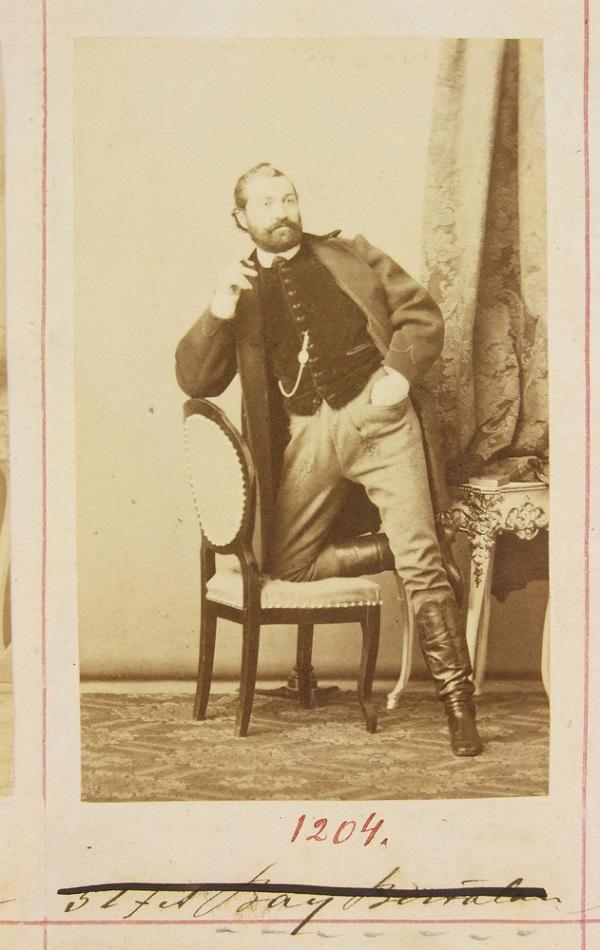 Bay Bertalan portréja a Gondy-Egey albumban - Déri Múzeum, CC BY-NC-ND