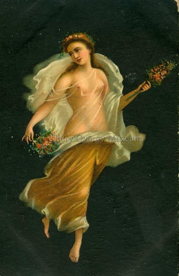Flora művészeti képeslapon - Thúry György Múzeum, CC BY-NC-ND