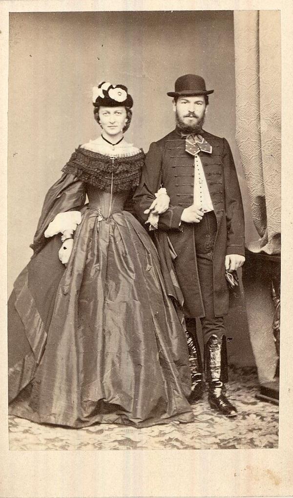 Geittner József és felesége, Zsófia (1860-as évek) - Magyar Kereskedelmi és Vendéglátóipari Múzeum, CC BY-NC-ND