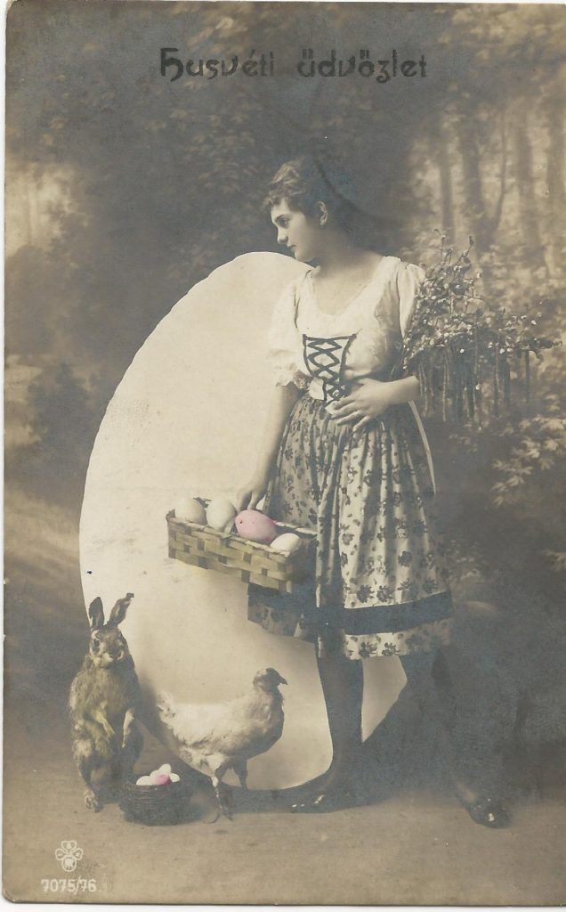 Húsvéti képeslap 1919-ből (MaNDA)