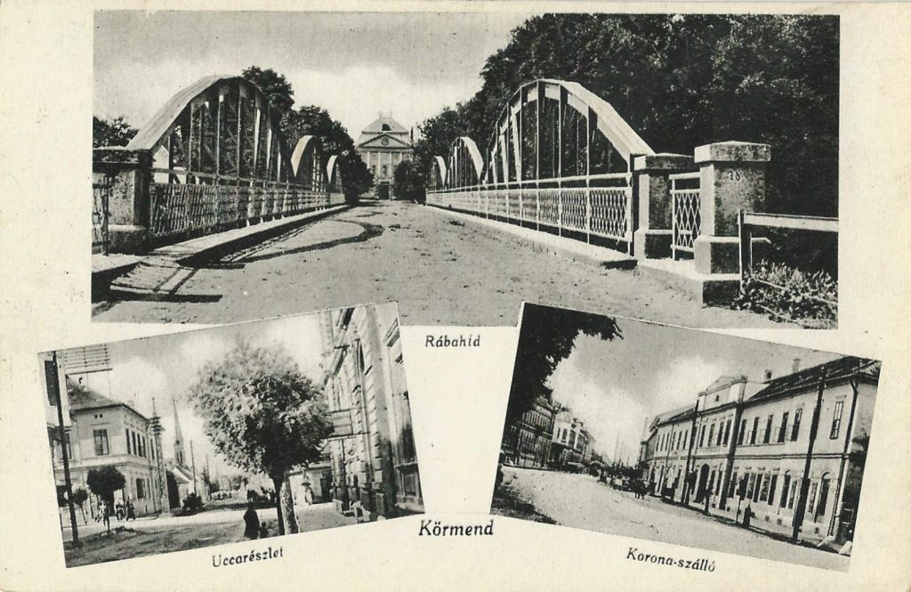 A híd a Rábán és a főhomlokzat (MaNDA)