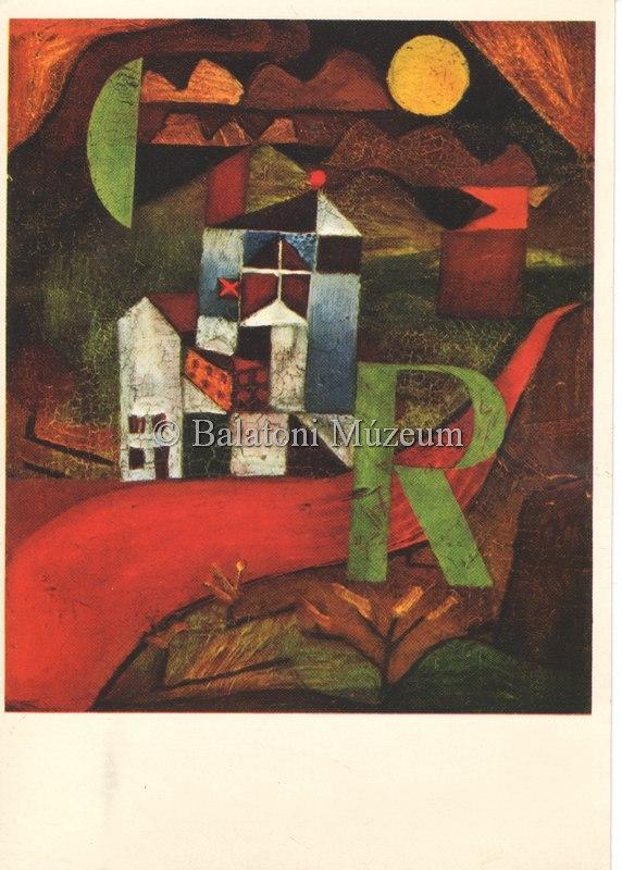 Egyik híres festménye képeslapon (MaNDA)