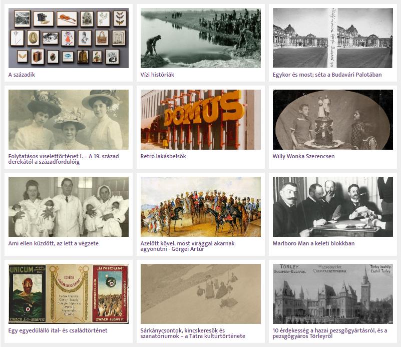 Virtuális kiállítások a MaNDA DB anyagaiból