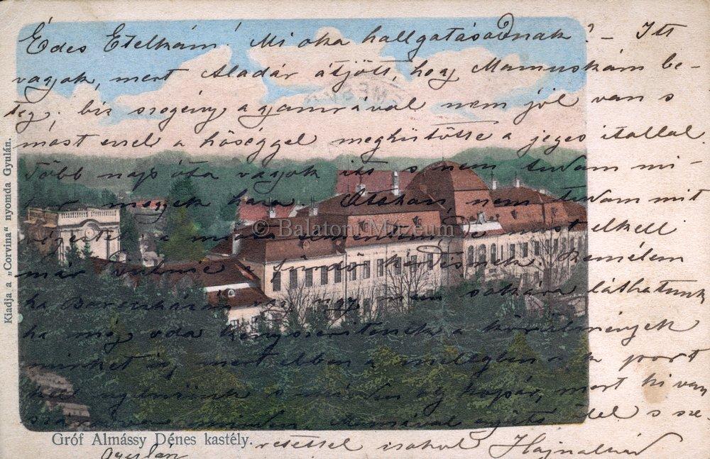 Almássy Dénes kastélyáról készült képeslap (MaNDA)