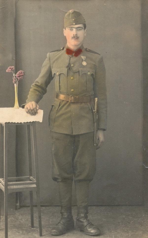 Jászkúti Ferenc színezett katonaportréja (1941) - Városi Képtár Deák Gyűjtemény Székesfehérvár, CC BY-NC-ND