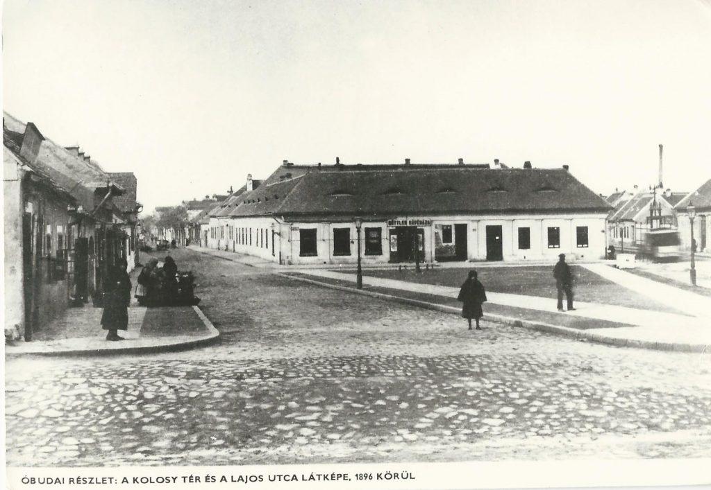 A régi Kolosy tér és Güttler Vince kávéháza (MaNDA)