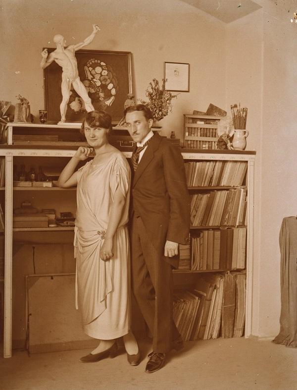 Smohay János és felesége (1915 körül) - Városi Képtár Deák Gyűjtemény Székesfehérvár, CC BY-NC-ND
