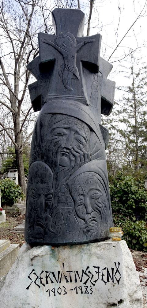 Apjának, tanítójának és alkotótársának síremléke (MaNDA)