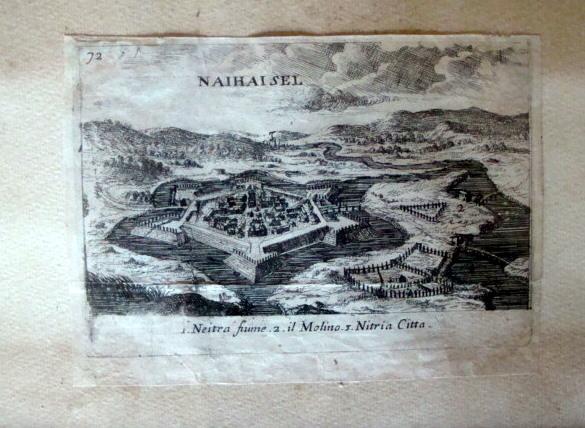 Metszet a hatszögletű, korában szinte egyedülálló várról (MaNDA)