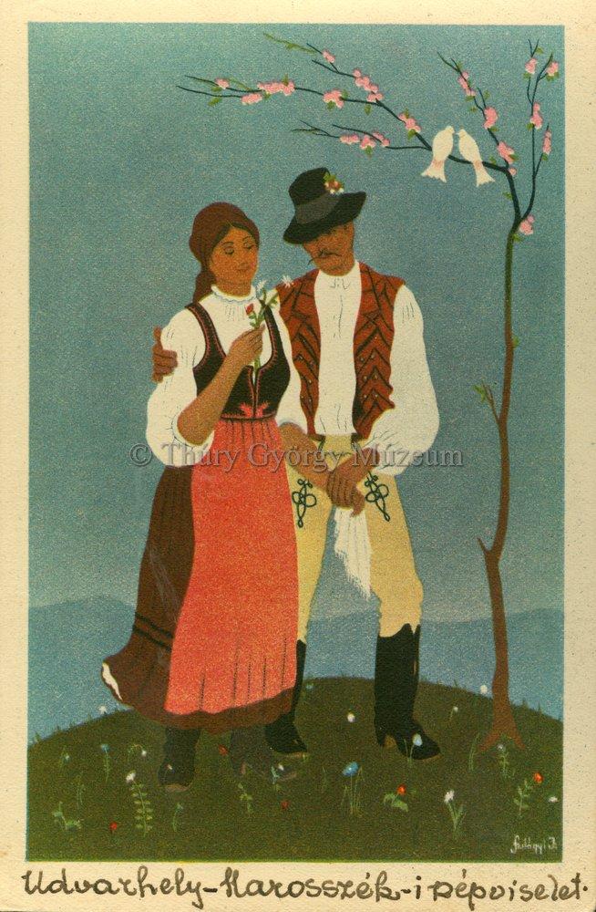 Marosszéki népviselet képeslapon (MaNDA)
