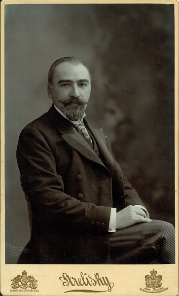 Gerbeaud Emil cukrász portréja, Budapest, 1901 - Magyar Kereskedelmi és Vendéglátóipari Múzeum, CC BY-NC-ND