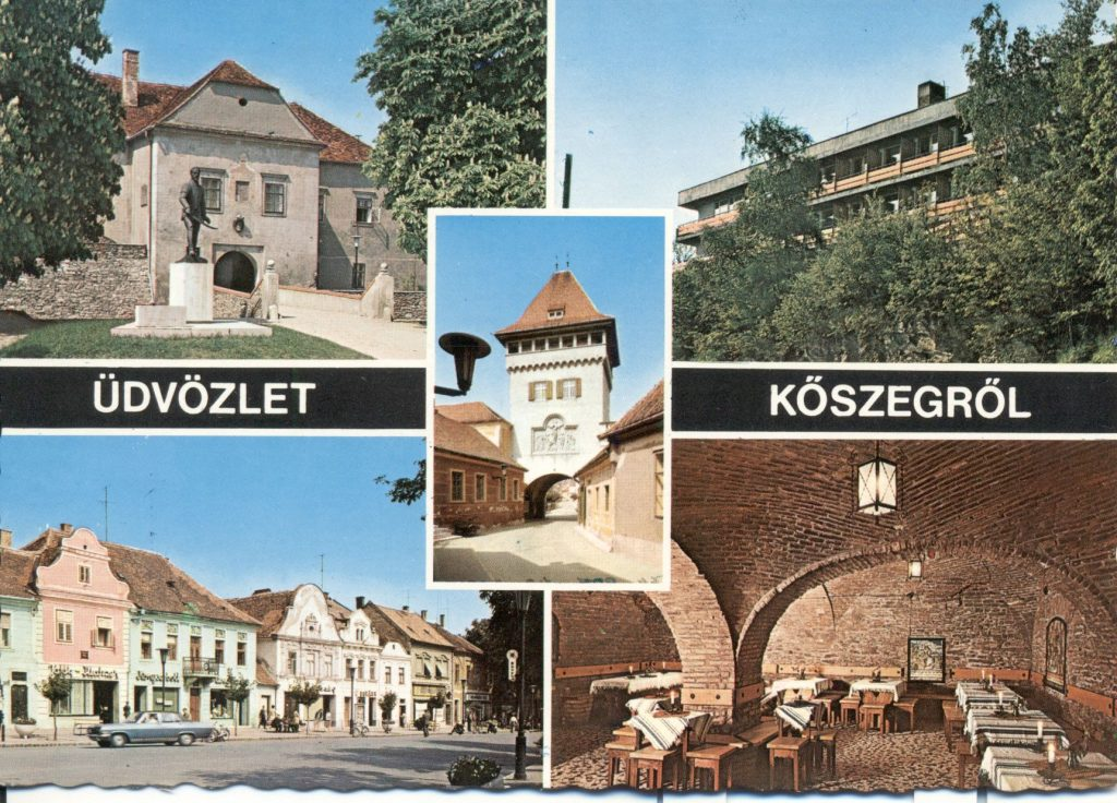 Kőszegi épületek a nyolcvanas években (MaNDA)
