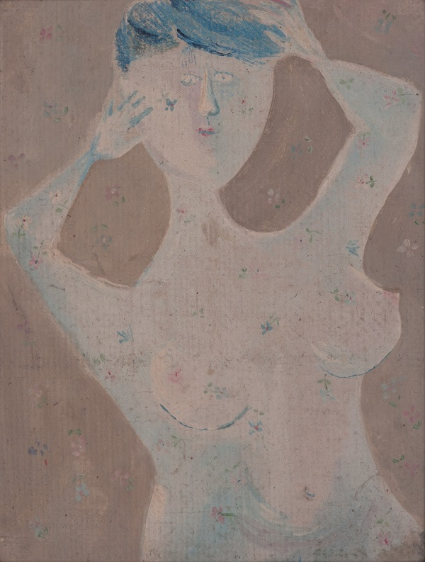 Anna Margit: Haját igazító nő, temperafestmény (1958) - MODEM, dr. Antal Péter, CC BY-NC-ND