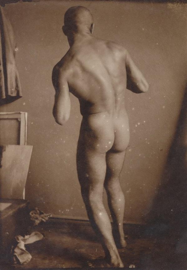 Smohay János: Bokszoló akt (1915 körül) - Városi Képtár Deák Gyűjtemény Székesfehérvár, CC BY-NC-ND
