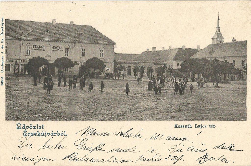 A Kossuth tér a Trianon előtti Érsekújváron (MaNDA)
