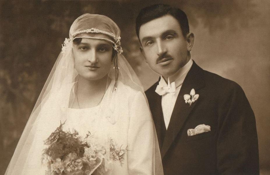 Albrecht János sütőmester legidősebb lányának esküvői képe (1929) - Városi Képtár Deák Gyűjtemény Székesfehérvár, CC BY-NC-ND