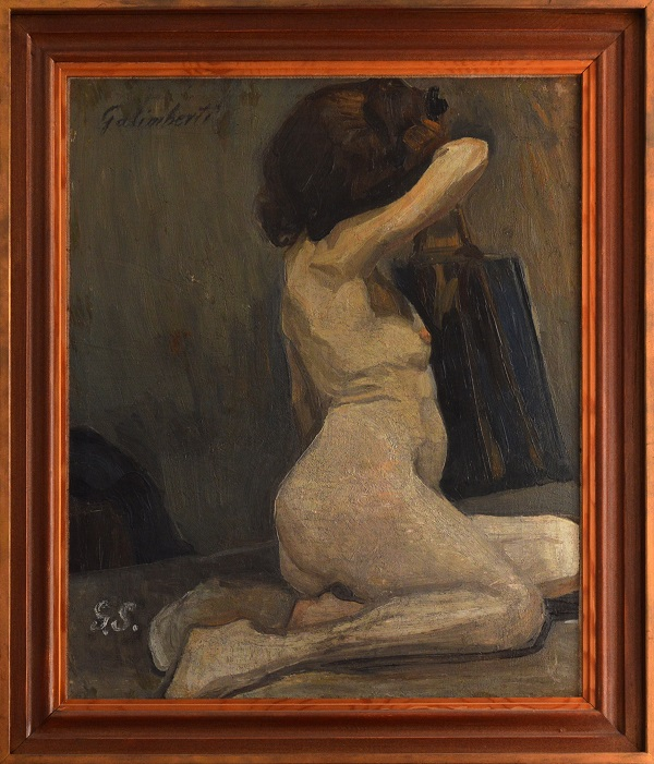 Galimberti Sándor: Akt oldalról, olajfestmény - Rippl Rónai Megyei Hatókörű Városi Múzeum, CC BY