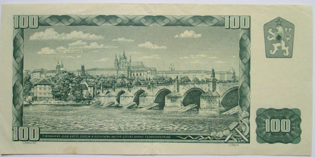 A Károly híd a várral a régi százkoronáson (MaNDA)