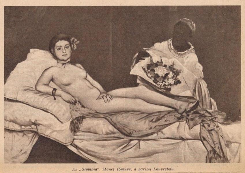 Édouard Manet: Olympia, reprodukció, újságcikk - Szépművészeti Múzeum - Magyar Nemzeti Galéria, CC BY-NC-ND