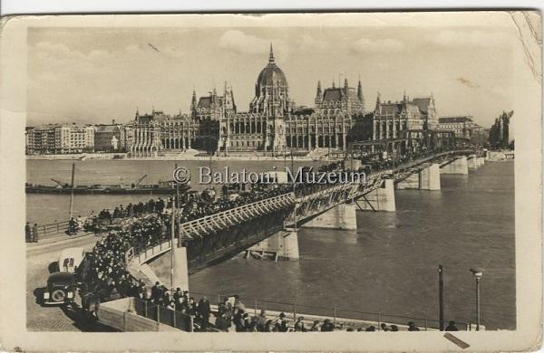 Budapest.Látkép a Kossuth híddal. - Balatoni Múzeum, CC BY-NC-ND