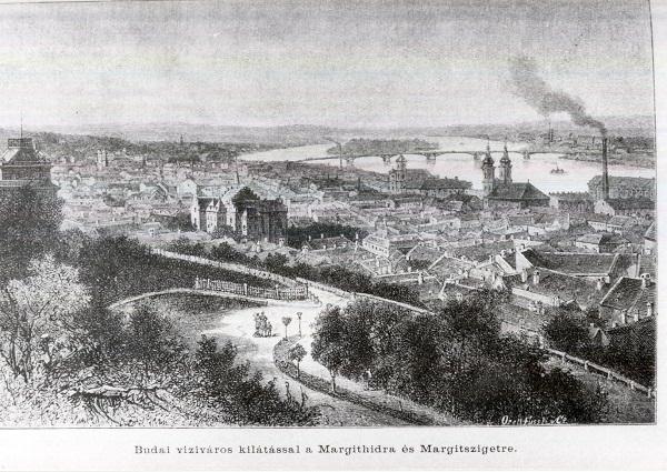 Budai víziváros, kilátással a Margit hídra és a Margitszigetre - MKVM, CC BY-NC-ND