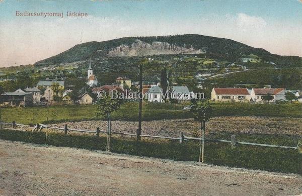 Badacsonytomaj látképe (1922) - Vollmuth Péter - Badacsonytördemic, CC BY-NC-ND