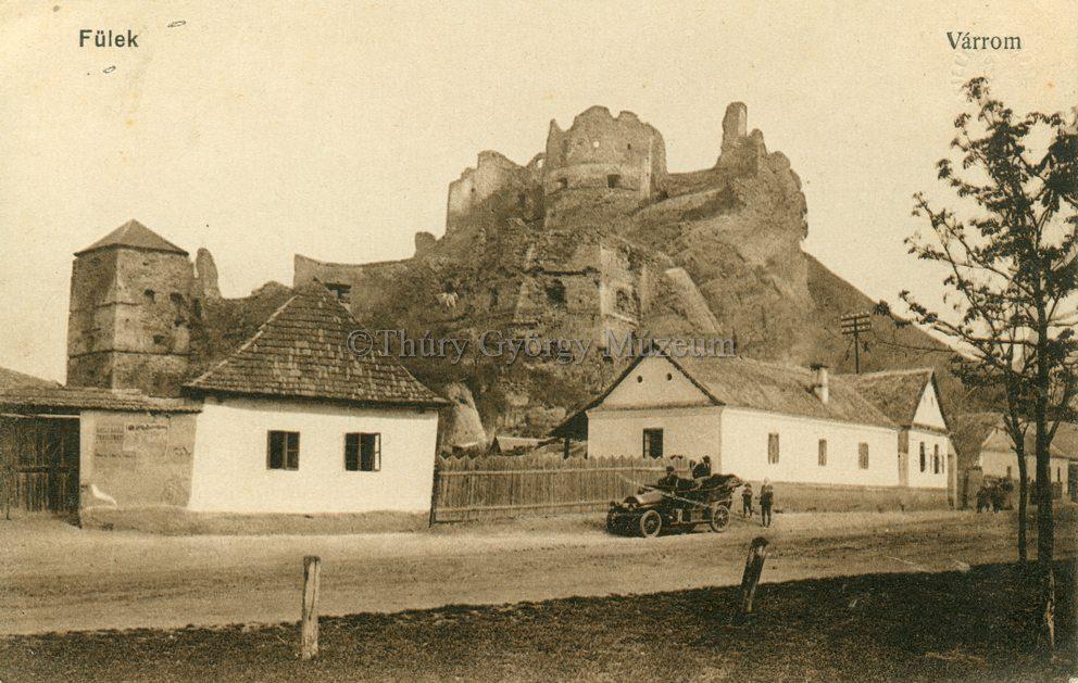 A vár romjai 1916-ban (MaNDA)