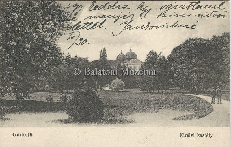 A kastély és a park részlete (MaNDA)