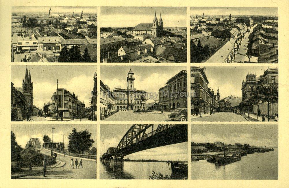 Képeslap a városról és a Dunáról 1942-ből (MaNDA)