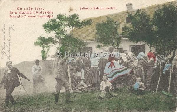 Szüret a Balaton mellett (1907) - Vollmuth Péter - Badacsonytördemic, CC BY-NC-ND