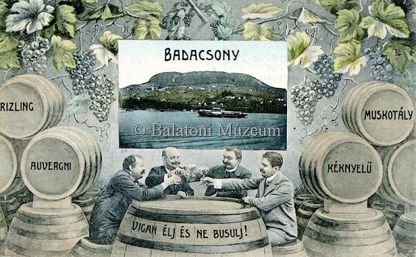 Badacsony, fotó- és rajzmontázs (1911) - Balatoni Múzeum, CC BY-NC-ND