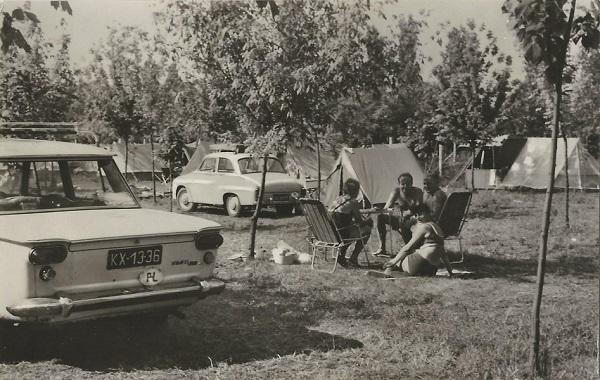 Berekfürdői kemping, képeslap - Képzőművészeti Alap Kiadóvállalat, CC BY-NC-ND