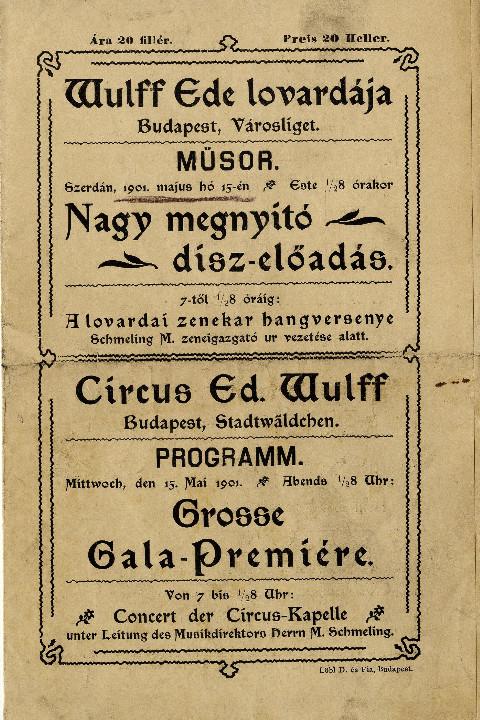 Nagy megnyitó dísz-előadás 1901-ből (MaNDA)